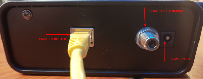 Coax Modem Port