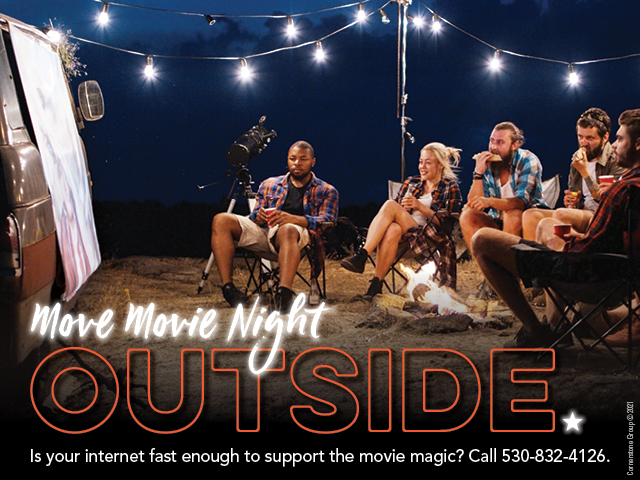 Movie Night Outside. Is Your Internet Fast Enough