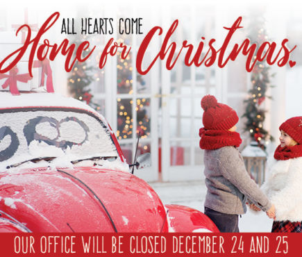 Our Office will be closed December 24th and 25th