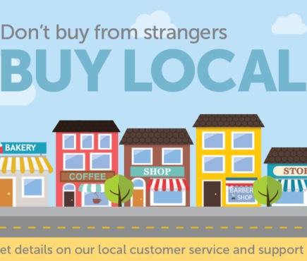 Don't buy from strangers. Buy Local.